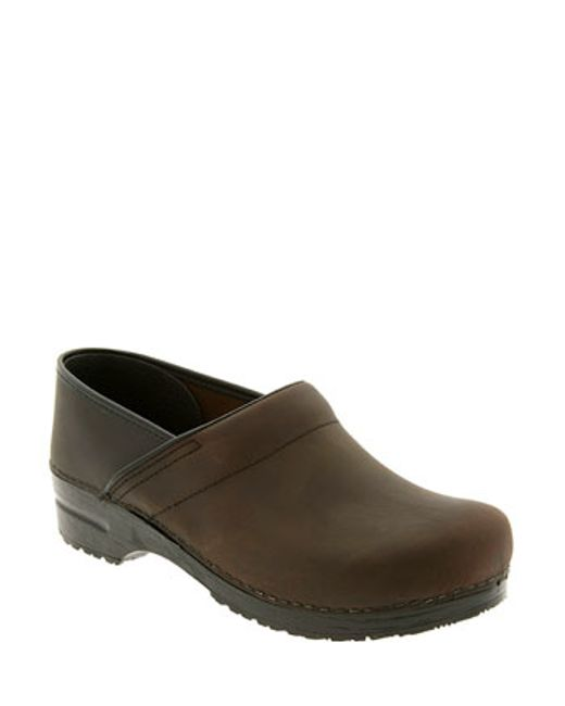 Dansko | Brown 'professional' Oiled Leather Clog | Lyst