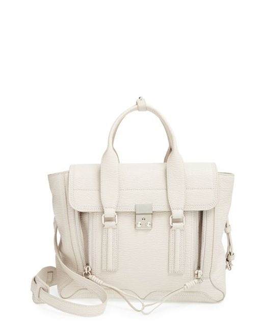 3.1 Phillip Lim | Green 'medium Pashli' Shark Embossed Leather Satchel | Lyst