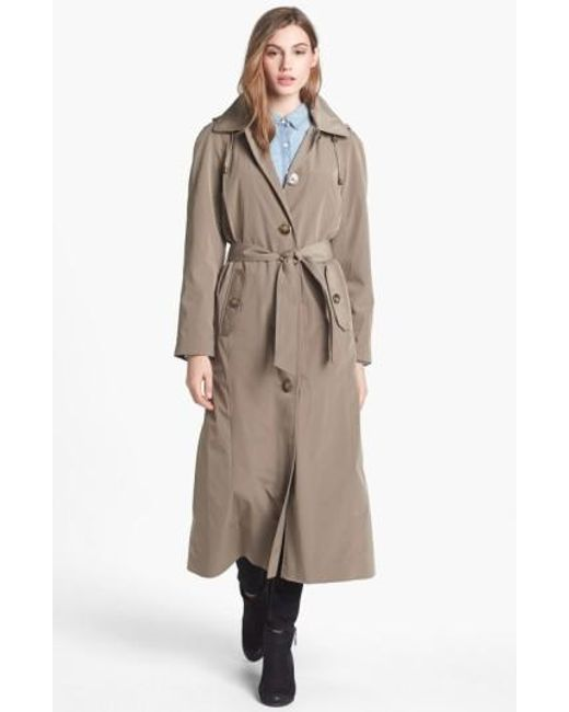 London Fog | Natural Long Trench Coat With Detachable Hood & Liner | Lyst