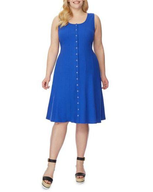 REBEL WILSON X ANGELS - Blue Rib Tank Dress - Lyst