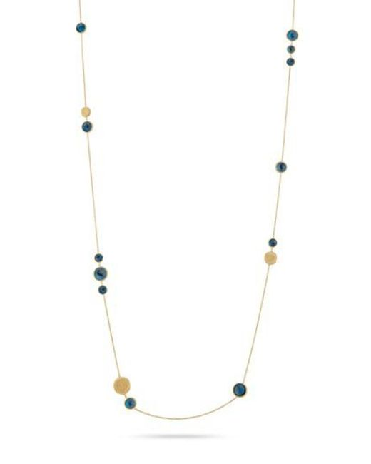 Marco Bicego - Blue 'jaipur' Long Station Necklace - Lyst