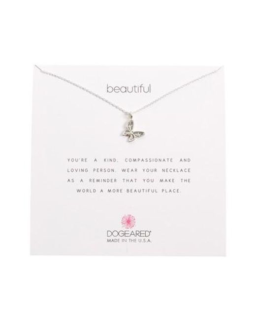 Dogeared | Metallic Butterfly Pendant Necklace | Lyst