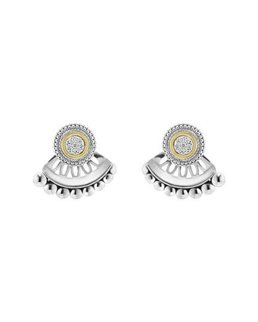 Lagos | Metallic Caviar Diamond Stud Earrings | Lyst