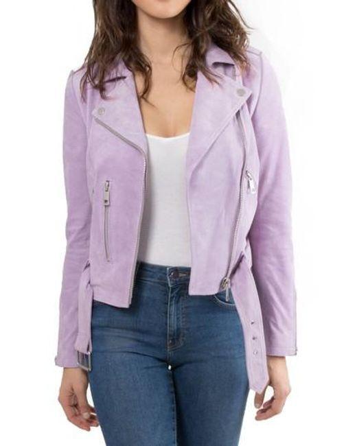 Bagatelle - Purple . Nyc Suede Jacket - Lyst