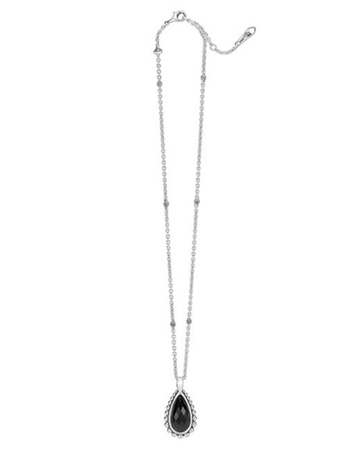 Lagos | Black 'maya' Teardrop Pendant Necklace | Lyst