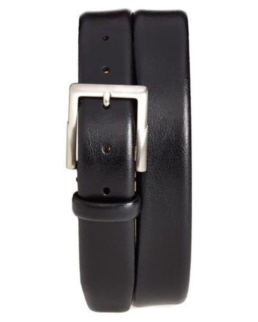 Trafalgar | Black 'rafferty' Leather Belt for Men | Lyst