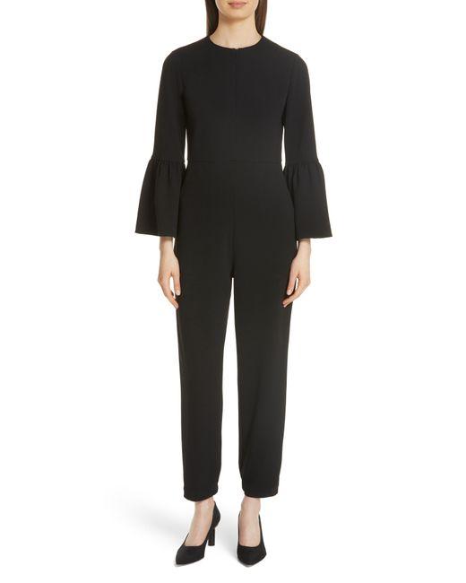 Tibi - Black Bell Cuff Structured Crepe Jumpsuit - Lyst