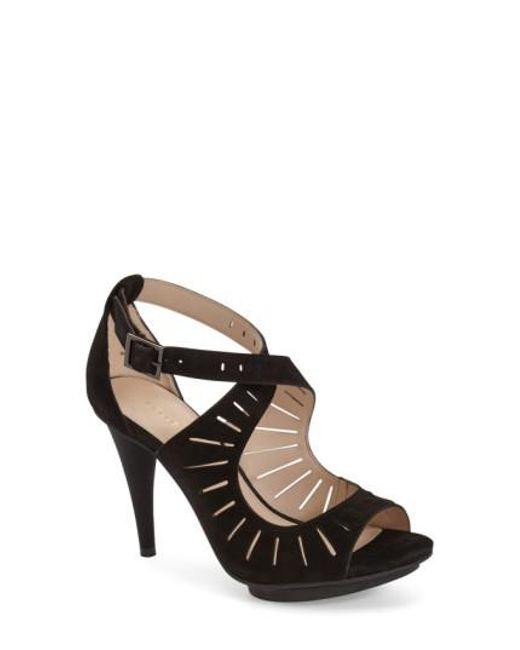 Pelle Moda | Black 'menlo' Cutout Sandal | Lyst