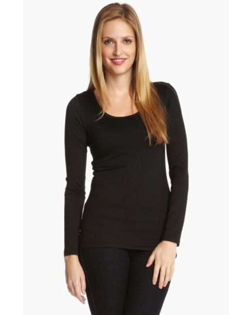 Karen Kane | Black Supersoft Long Sleeve Tee | Lyst
