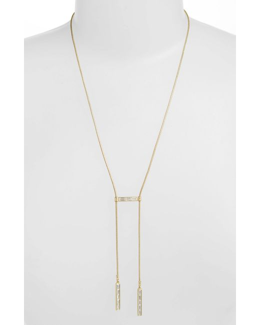 Sole Society - Metallic Bolo Necklace - Lyst