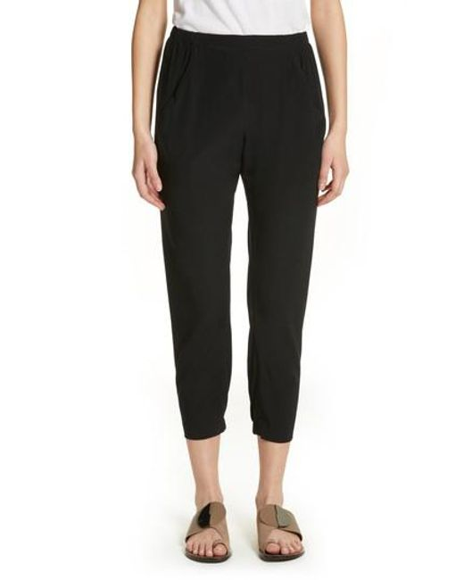 Elli Printed Silk-Blend Trousers Zero + Maria Cornejo Gi0IHlkN