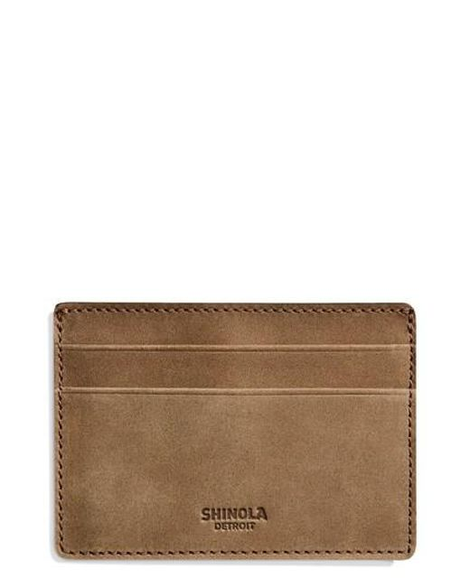 Shinola - Brown Outrigger Id Leather Card Case for Men - Lyst