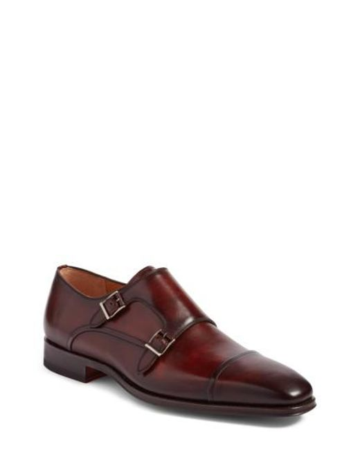 Magnanni Shoes - Brown Santino Double Monk Strap Shoe for Men - Lyst