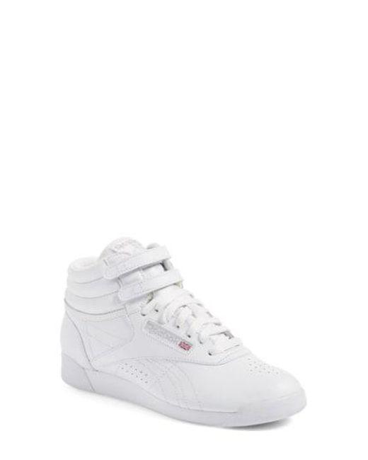 ffcaa9877e37 Lyst - Reebok  freestyle Hi  Sneaker in Black