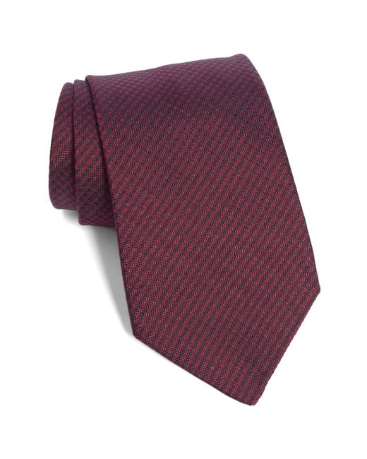 John Varvatos - Red Solid Silk Tie for Men - Lyst
