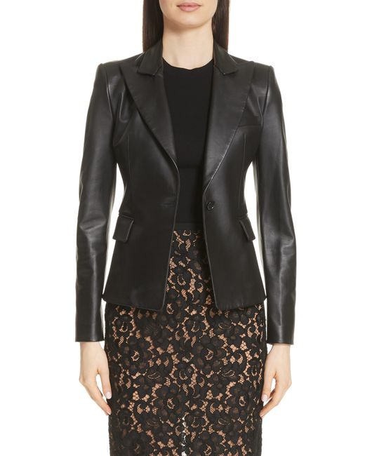 Michael Kors - Black Plonge Leather Jacket - Lyst