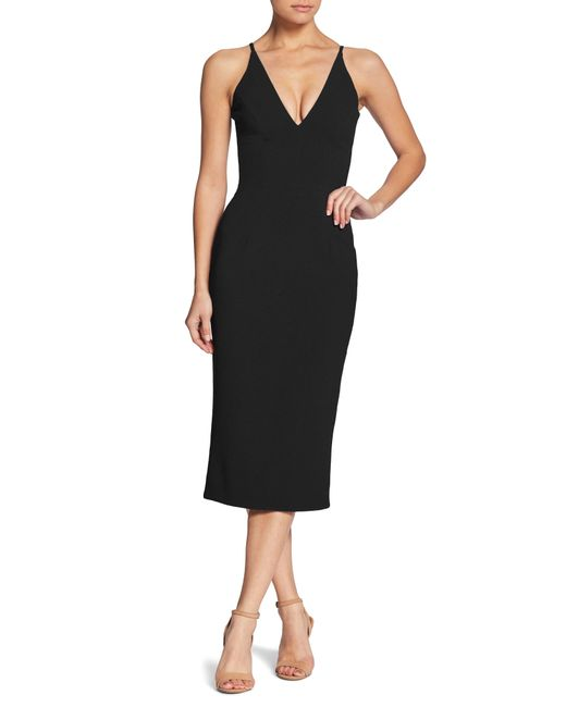 d161998fd40 Dress the Population - Black Lyla Crepe Sheath Dress - Lyst ...
