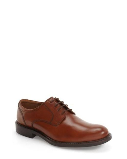 Johnston & Murphy | Brown Tabor Plain Toe Derby for Men | Lyst