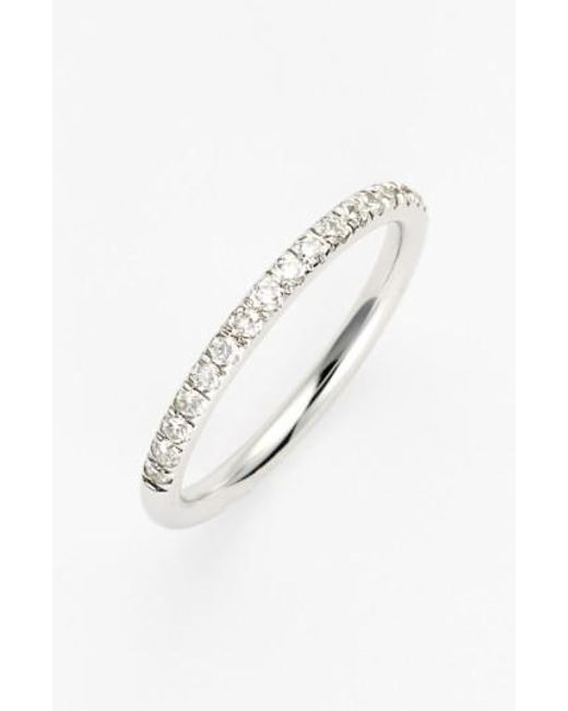 Bony Levy   White 'stackable' Large Straight Diamond Band Ring (nordstrom Exclusive)   Lyst