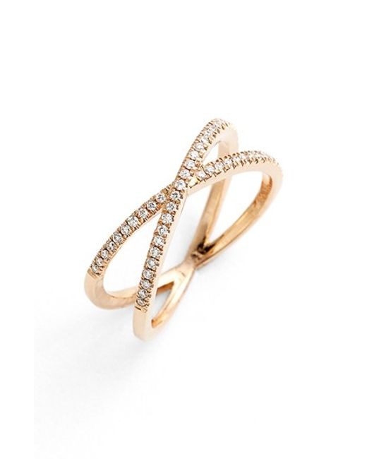 Bony Levy | Pink Stackable Crossover Diamond Ring (nordstrom Exclusive) | Lyst