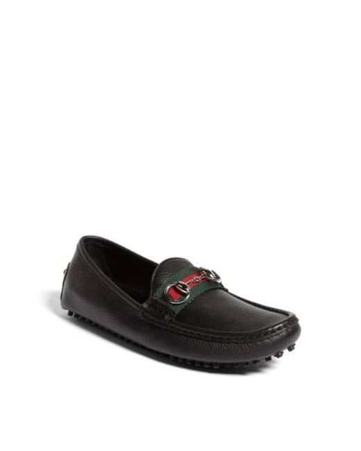 Gucci | Black Damo Driving Loafer | Lyst