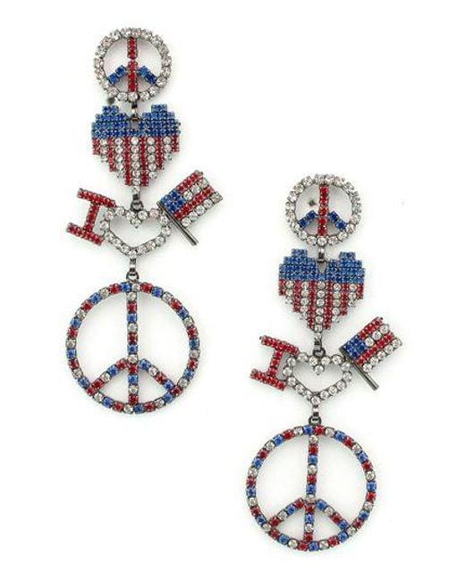 Elizabeth Cole - Multicolor Liberty Drop Earrings - Lyst