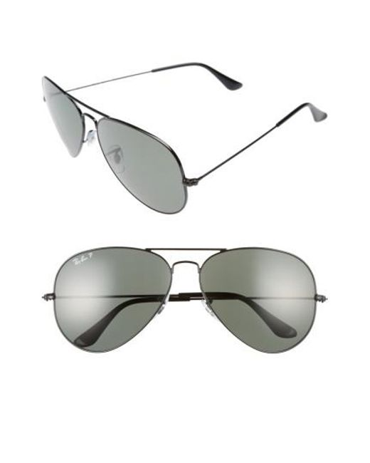 Ray-Ban | Black Icons 62mm Polarized Aviator Sunglasses for Men | Lyst