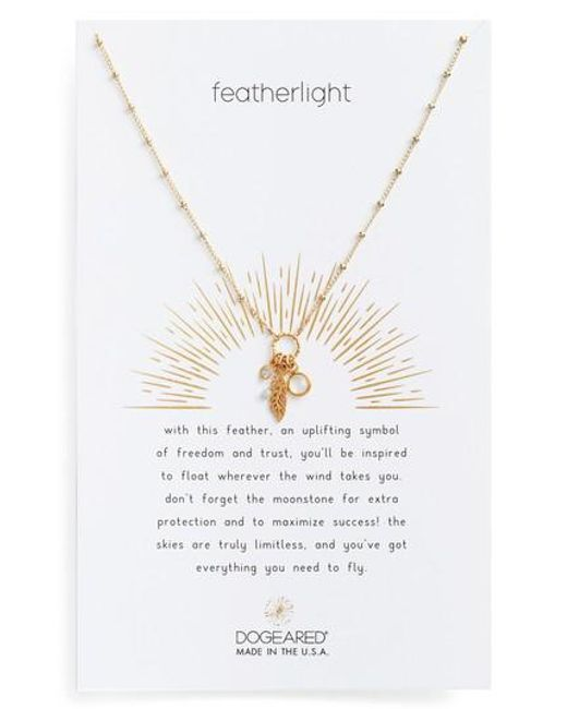 Dogeared | Metallic Featherlight Pendant Necklace | Lyst