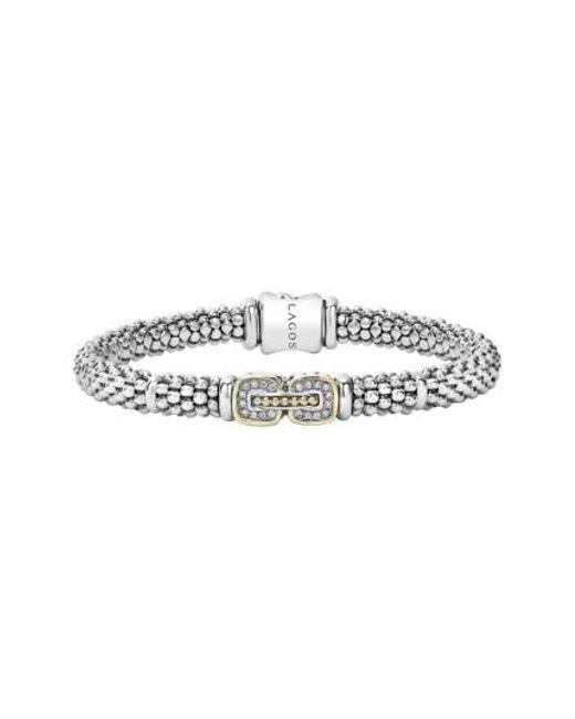 Lagos | Metallic 'cushion' Diamond Caviar Bracelet | Lyst