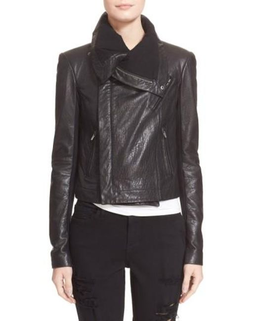 VEDA   Black 'max Classic' Leather Jacket   Lyst