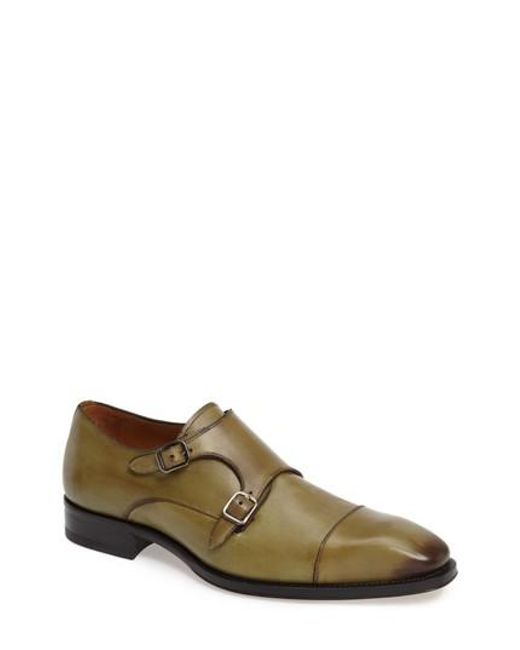 Mezlan - Brown Cajal Double Monk Strap Cap Toe Shoe for Men - Lyst