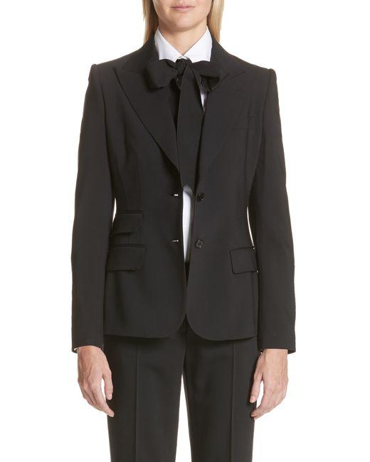 Dolce & Gabbana Black Two Button Stretch Wool Jacket