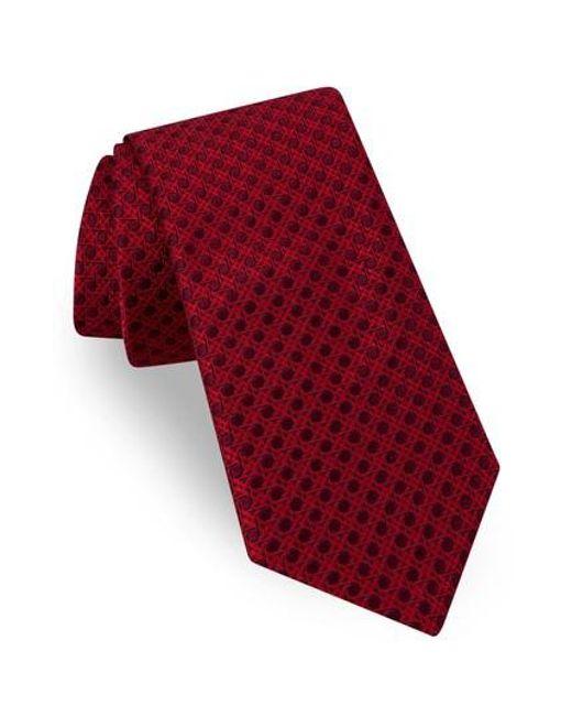 Ted Baker | Red Fancy Geometric Silk Tie for Men | Lyst