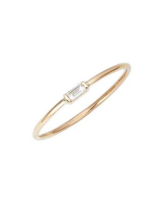 Zoe Chicco - Metallic Baguette Diamond Stacking Ring - Lyst