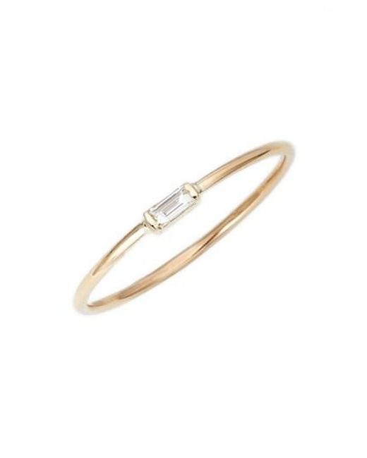 Zoe Chicco | Metallic Baguette Diamond Stacking Ring | Lyst