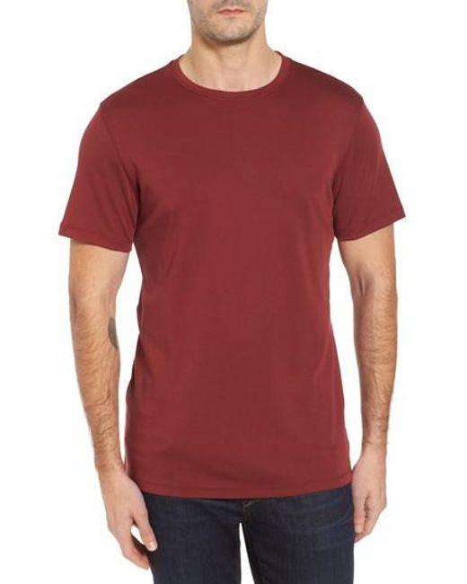 Robert Barakett | Red 'georgia' Crewneck T-shirt for Men | Lyst