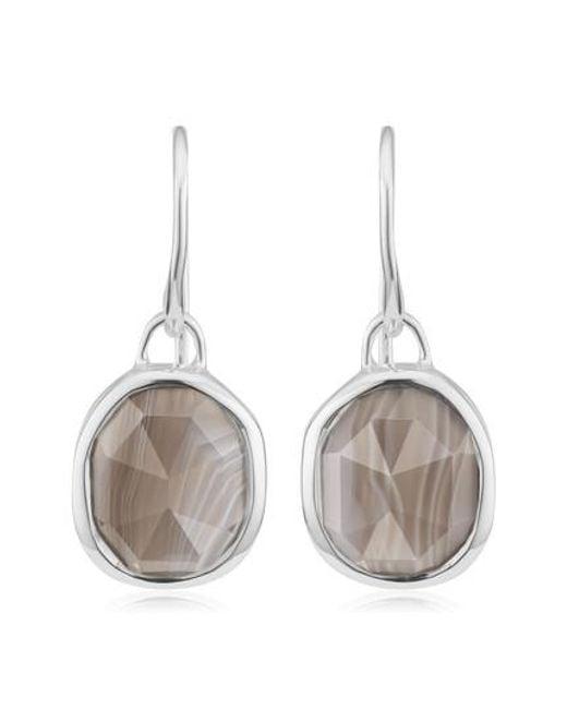 Monica Vinader - Blue Siren Semiprecious Stone Drop Earrings - Lyst