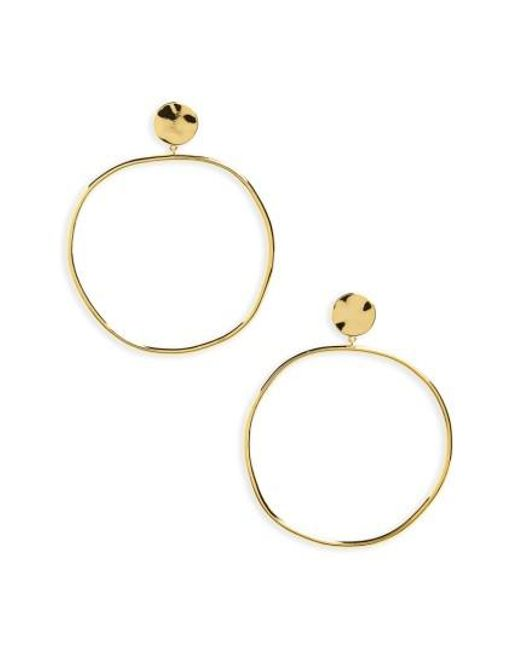 Gorjana - Metallic Chloe Frontal Hoop Earrings - Lyst
