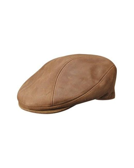 Stetson | Brown Leather Driving Cap for Men | Lyst
