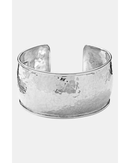 Ippolita | Metallic 'goddess' Hammered Cuff - Sterling Silver | Lyst