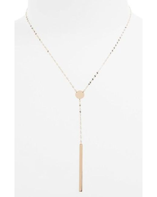 Lana Jewelry | Pink 'chime' Y-necklace | Lyst