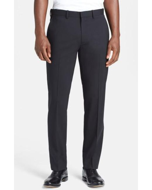 Theory | Black 'marlo New Tailor' Slim Fit Pants for Men | Lyst