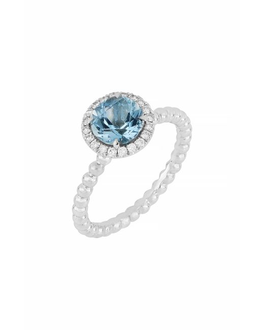 Bony Levy - Metallic Diamond & Aquamarine Ring (trunk Show Exclusive) - Lyst