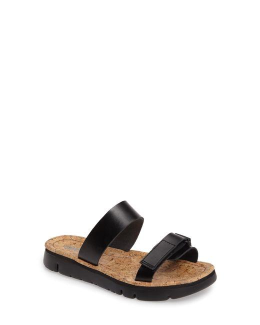 Camper - Black 'oruga' Two Strap Slide Sandal - Lyst