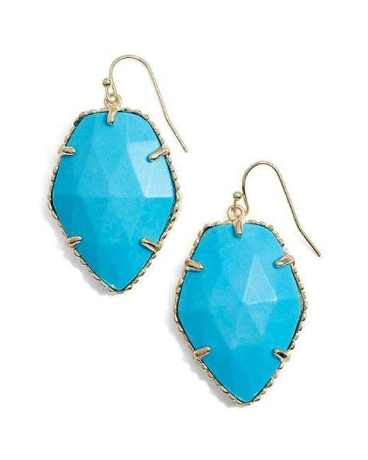 Kendra Scott | Blue 'corley' Faceted Stone Drop Earrings | Lyst