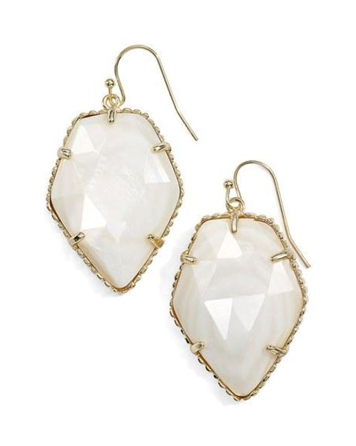 Kendra Scott | Metallic 'corley' Faceted Stone Drop Earrings | Lyst
