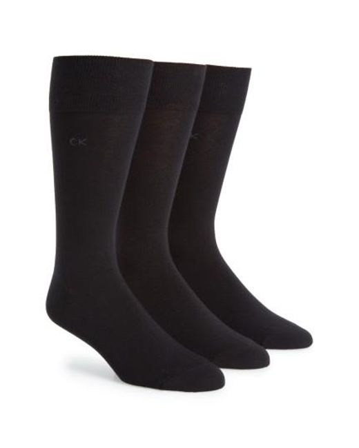 Calvin Klein   Assorted 3-pack Socks, Black for Men   Lyst