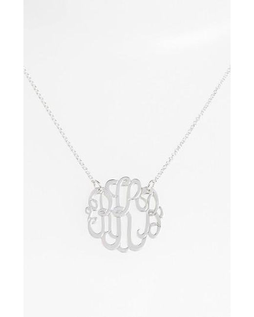 Argento Vivo | Metallic Personalized Small 3-initial Letter Monogram Necklace (nordstrom Exclusive) | Lyst