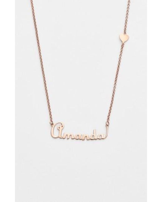Argento Vivo | Metallic Personalized Script Name With Heart Necklace (nordstrom Online Exclusive) | Lyst