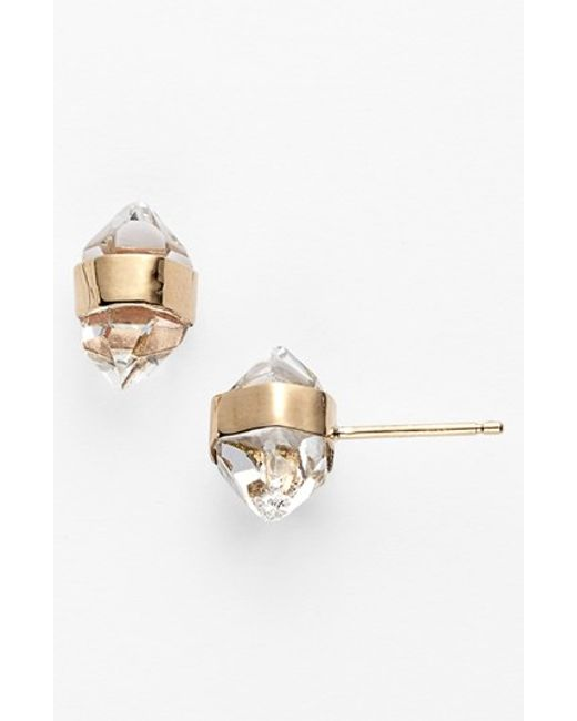 Melissa Joy Manning | Metallic Stone Stud Earrings | Lyst
